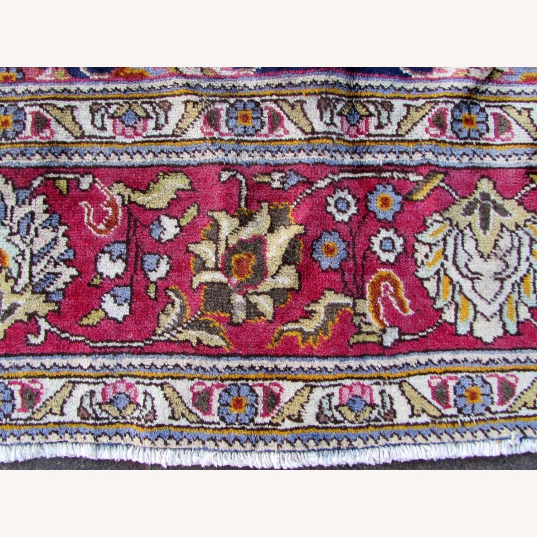 Handmade vintage Persian Mashad rug - image-5