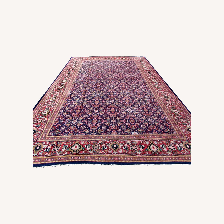 Handmade vintage Persian Mahal rug - image-0