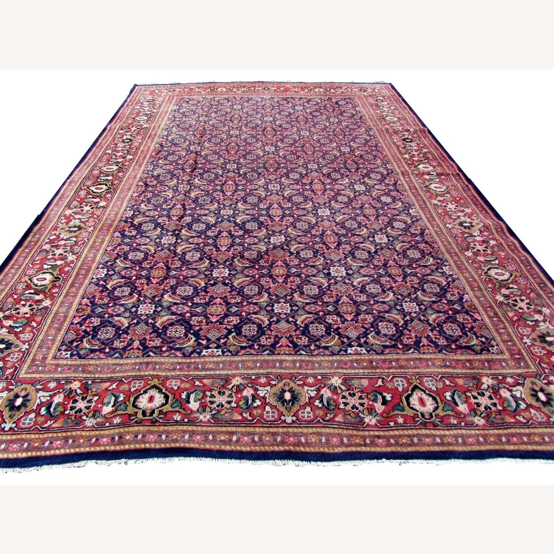 Handmade vintage Persian Mahal rug - image-1