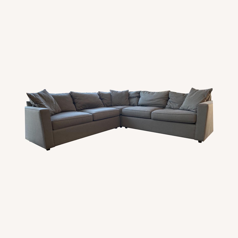 Room & Board Dark Grey Sectional Sofa - image-0
