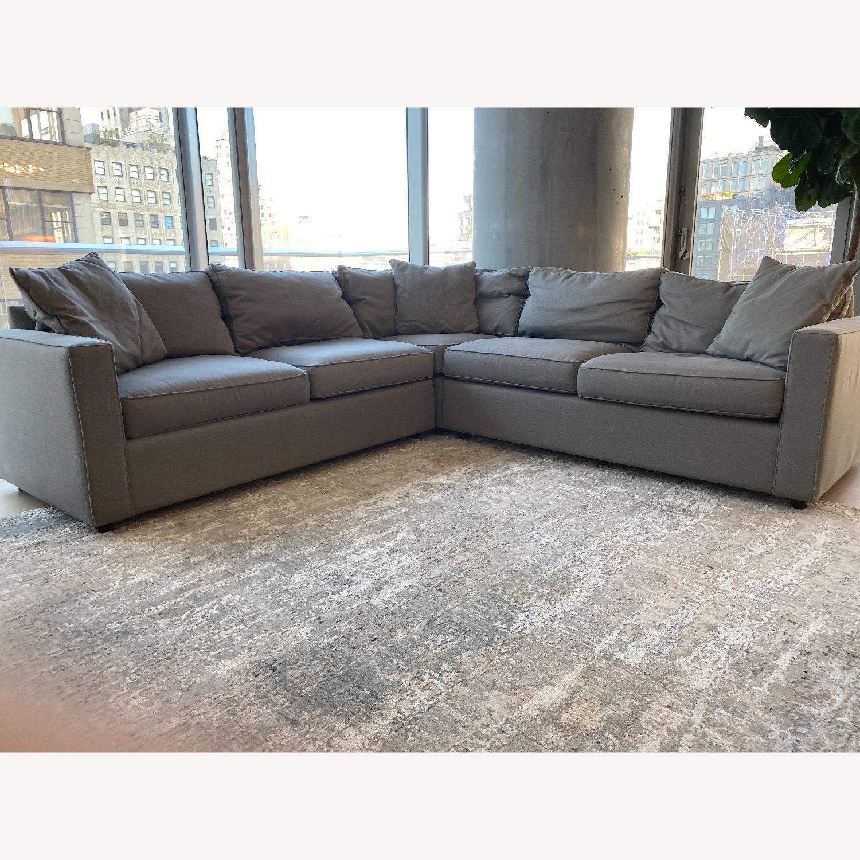 Room & Board Dark Grey Sectional Sofa - image-1