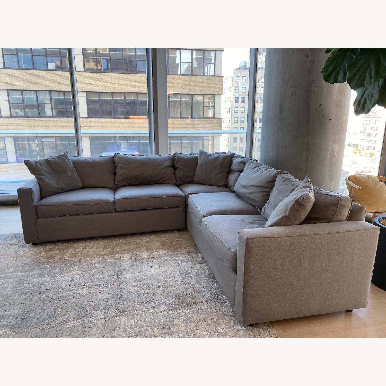 Room & Board Dark Grey Sectional Sofa - image-2
