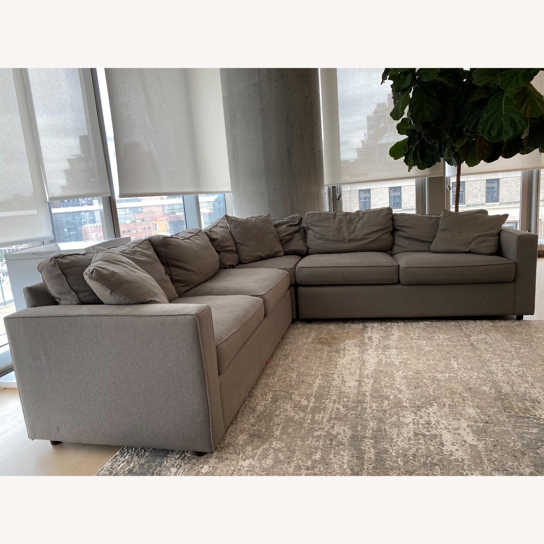 Room & Board Dark Grey Sectional Sofa - image-3