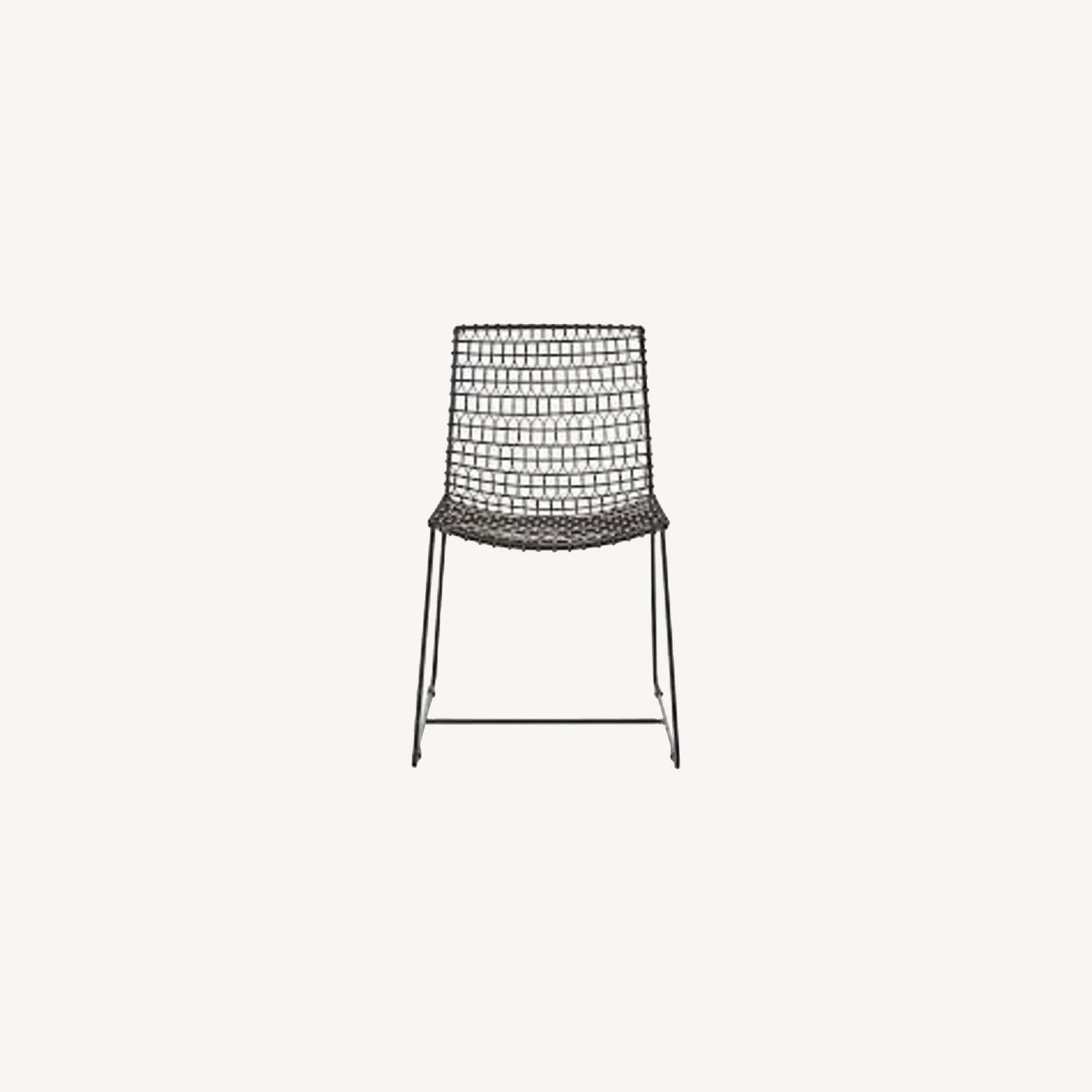 Crate & Barrel Metal Dining Chairs - image-0