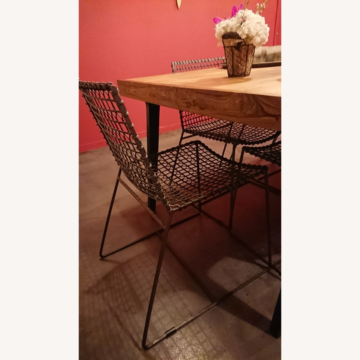 Crate & Barrel Metal Dining Chairs - image-1