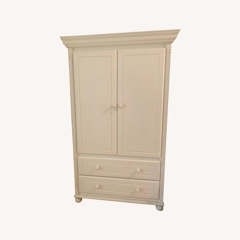 Bellini Furniture White Armoire - image-0