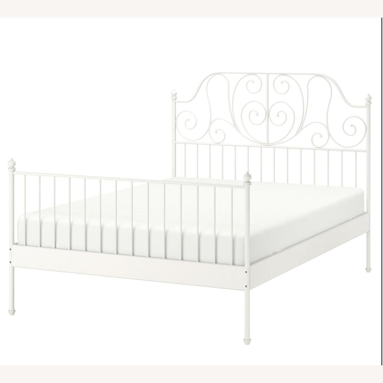 IKEA LEIRVIK FULL BED FRAME - image-1