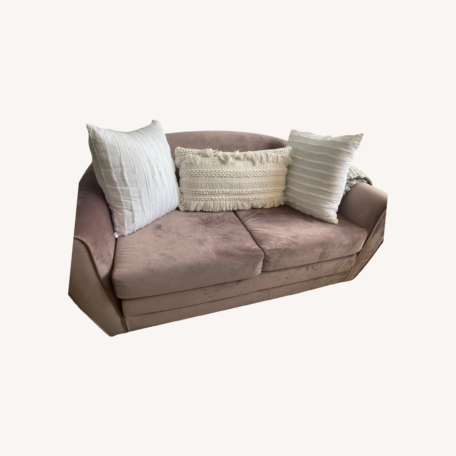 Urban Outfitters Little Pink Sleeper Sofa - image-0