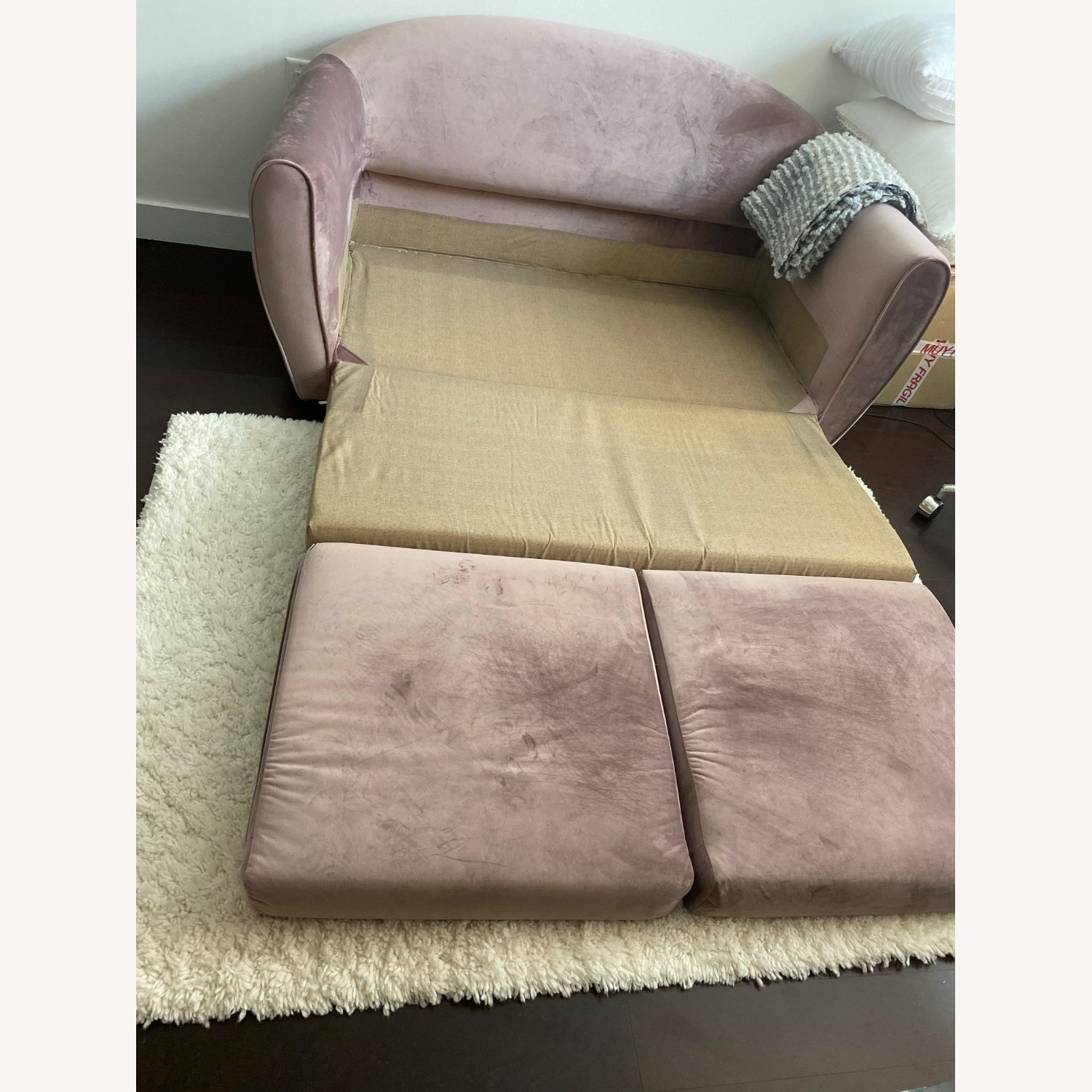Urban Outfitters Little Pink Sleeper Sofa - image-4