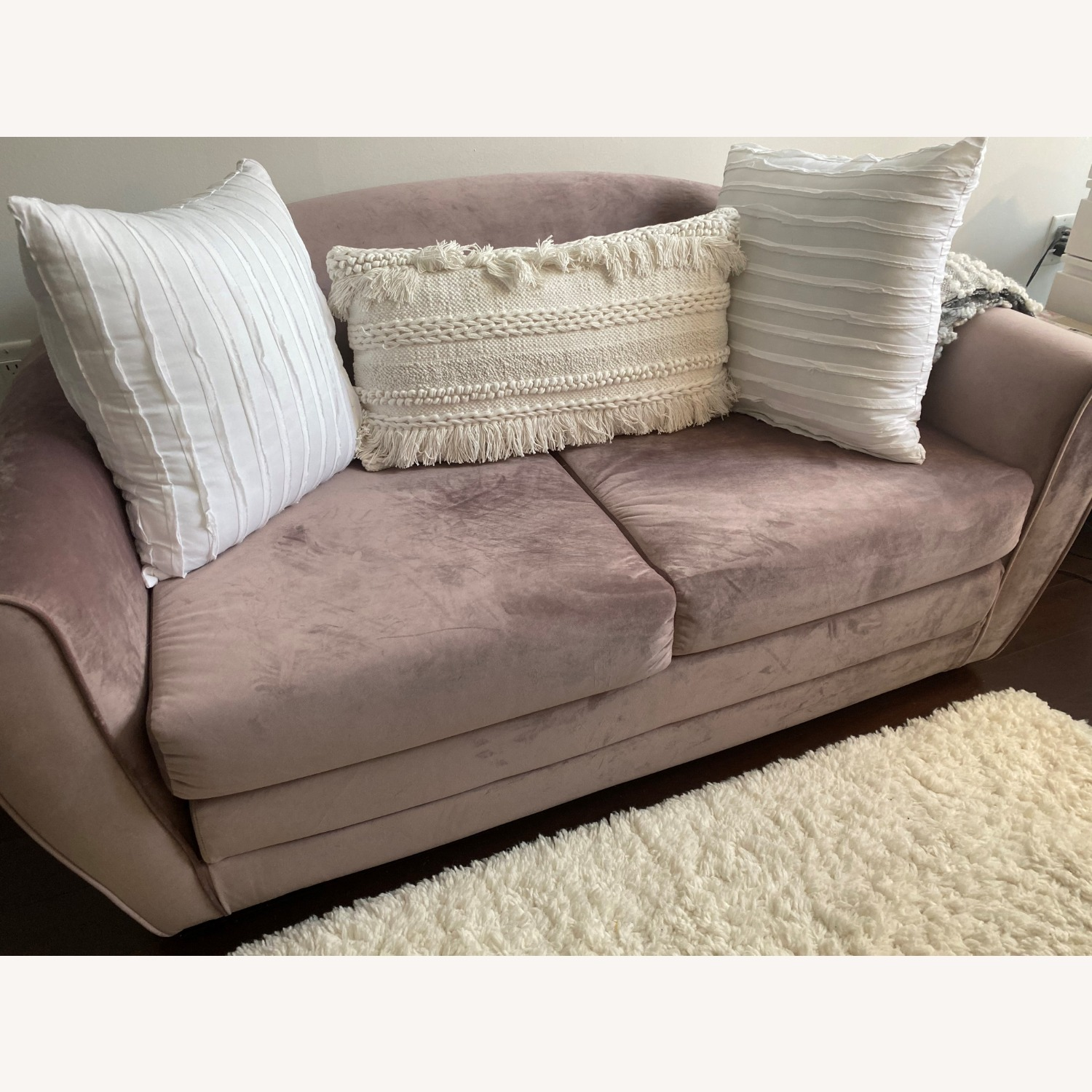 Urban Outfitters Little Pink Sleeper Sofa - image-1