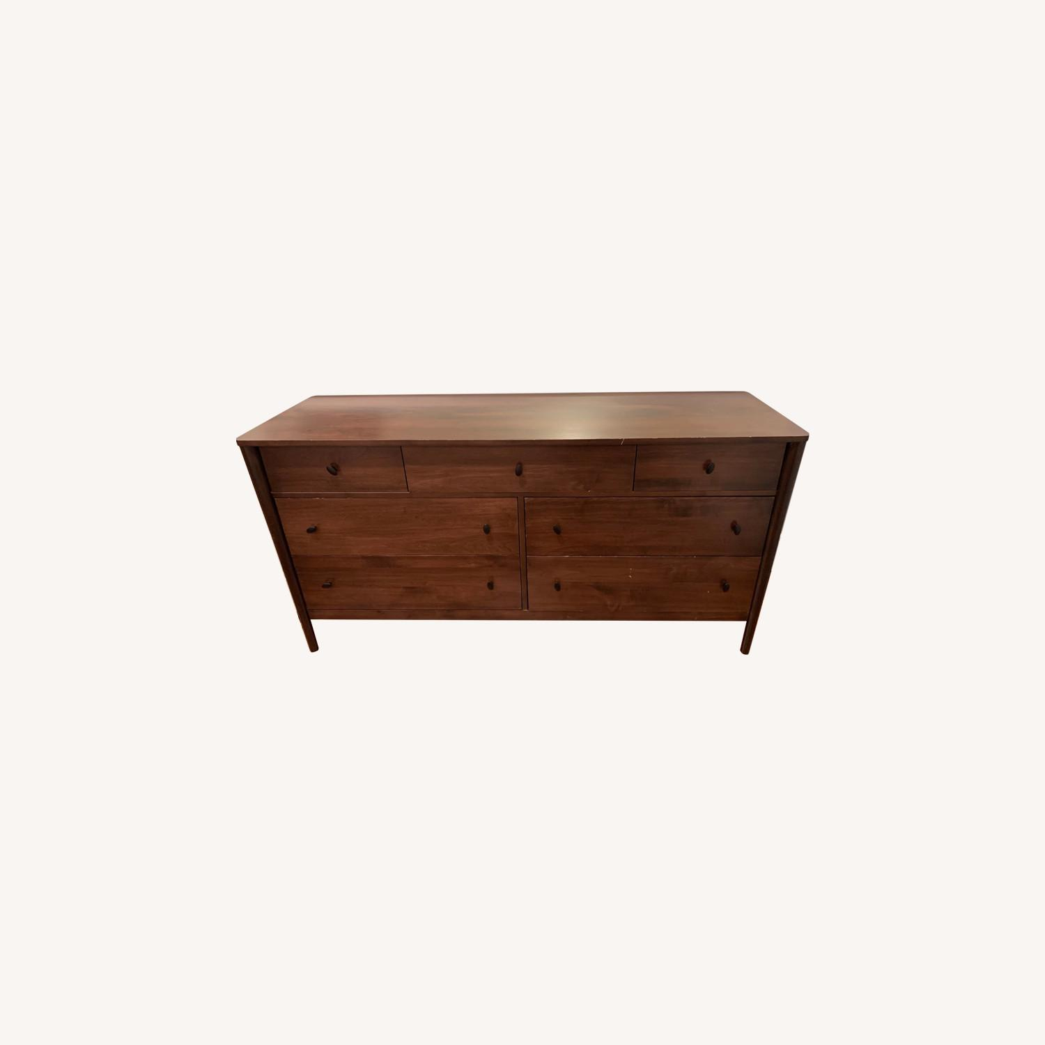 Crate & Barrel Gia 7-Drawer Dresser, Solid Maple - image-0