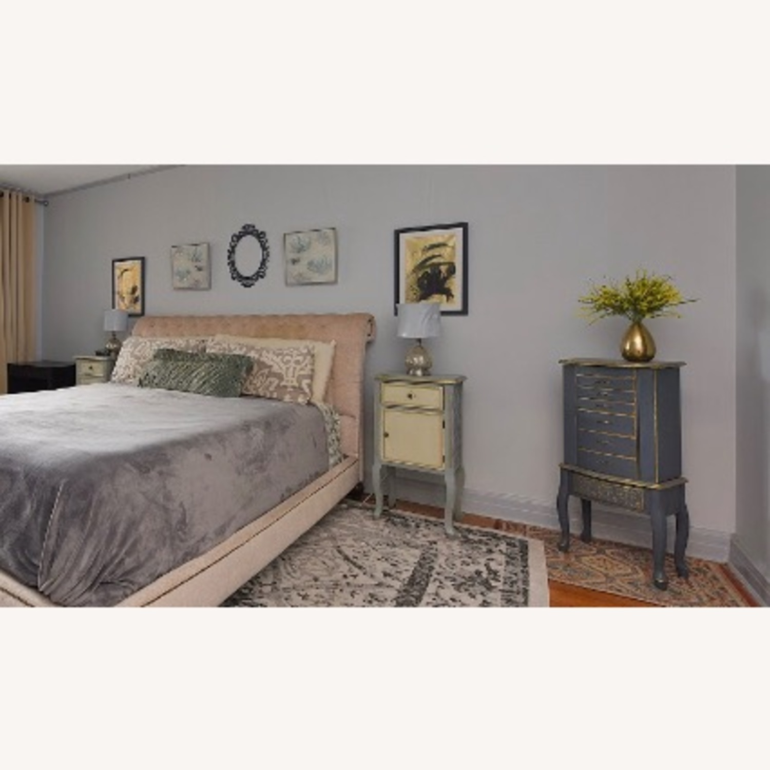 Macy's Cali King Tufted Bed - image-1
