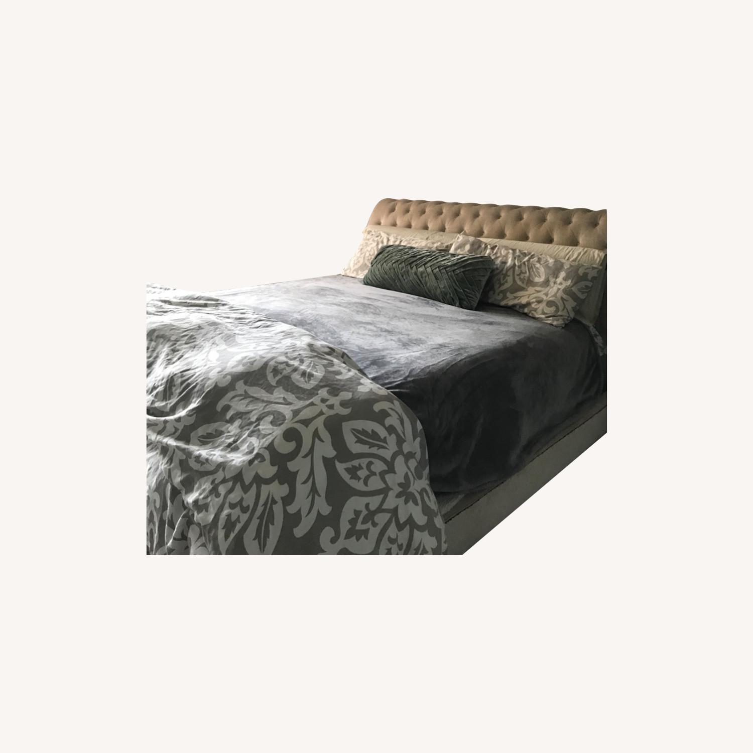 Macy's Cali King Tufted Bed - image-0