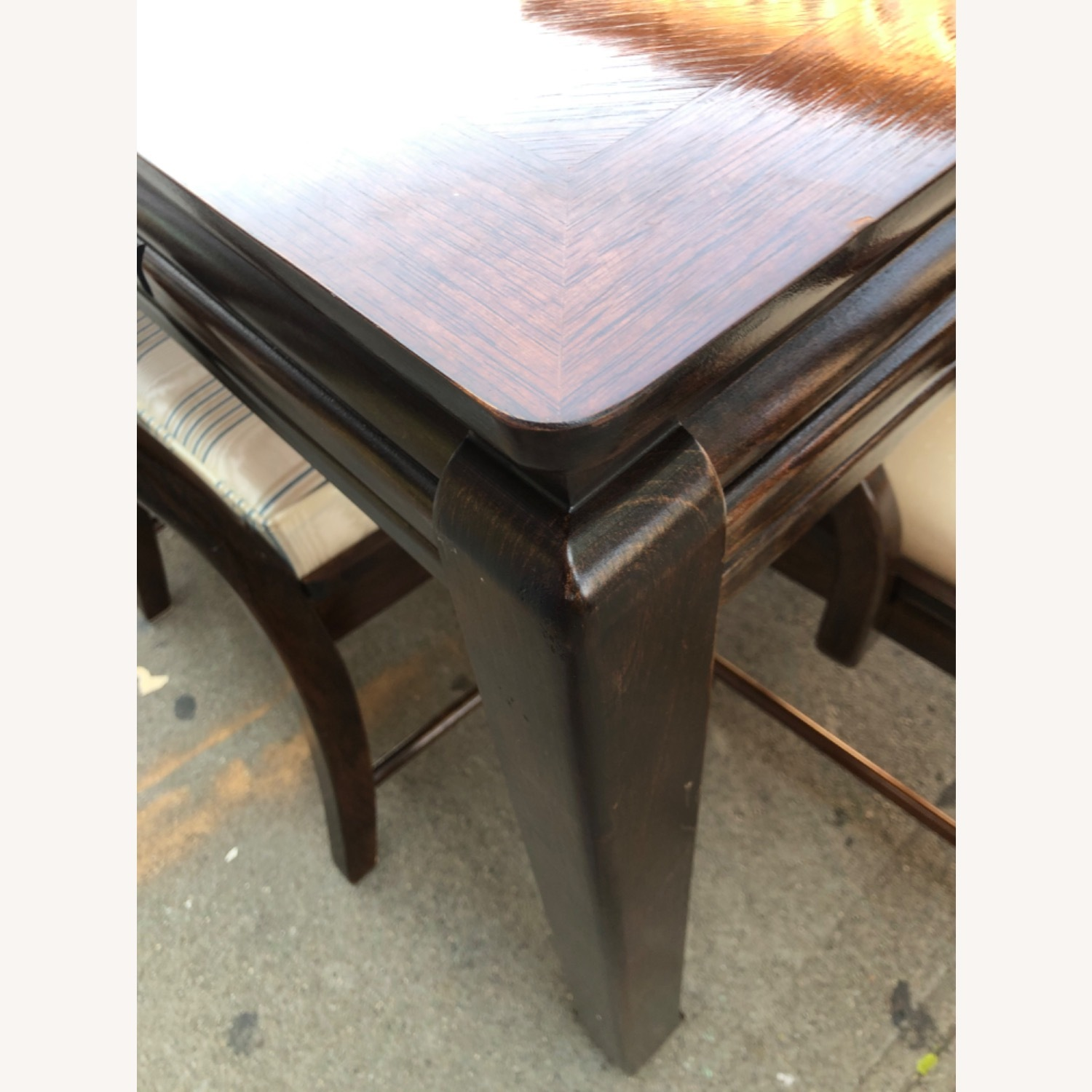 Vintage 1970s Table w/6 Chairs & 2 Extension - image-9