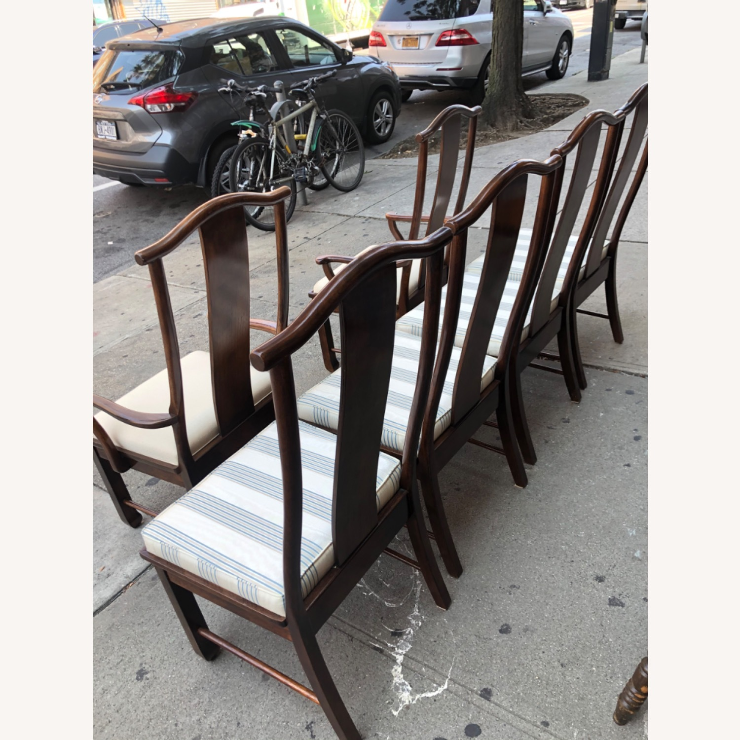 Vintage 1970s Table w/6 Chairs & 2 Extension - image-17