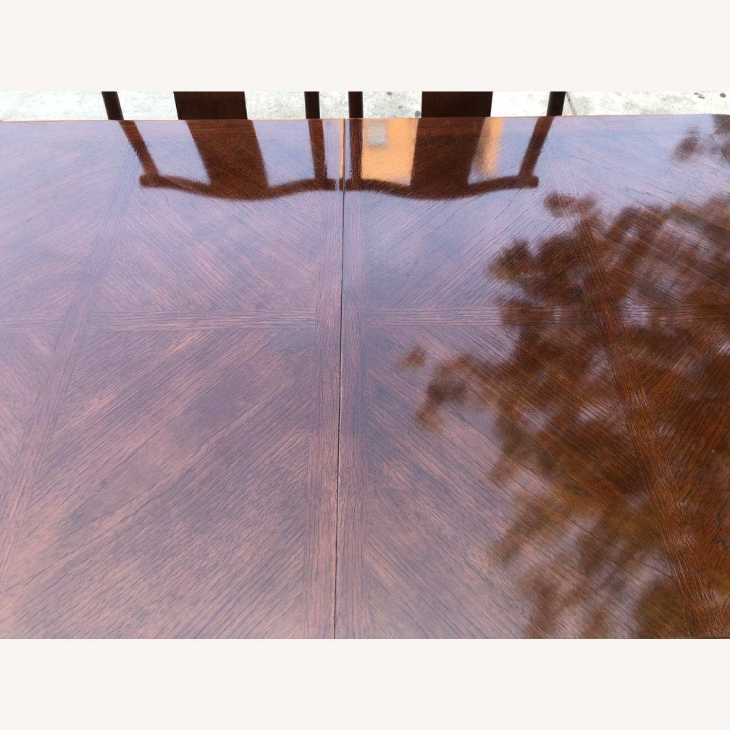 Vintage 1970s Table w/6 Chairs & 2 Extension - image-8
