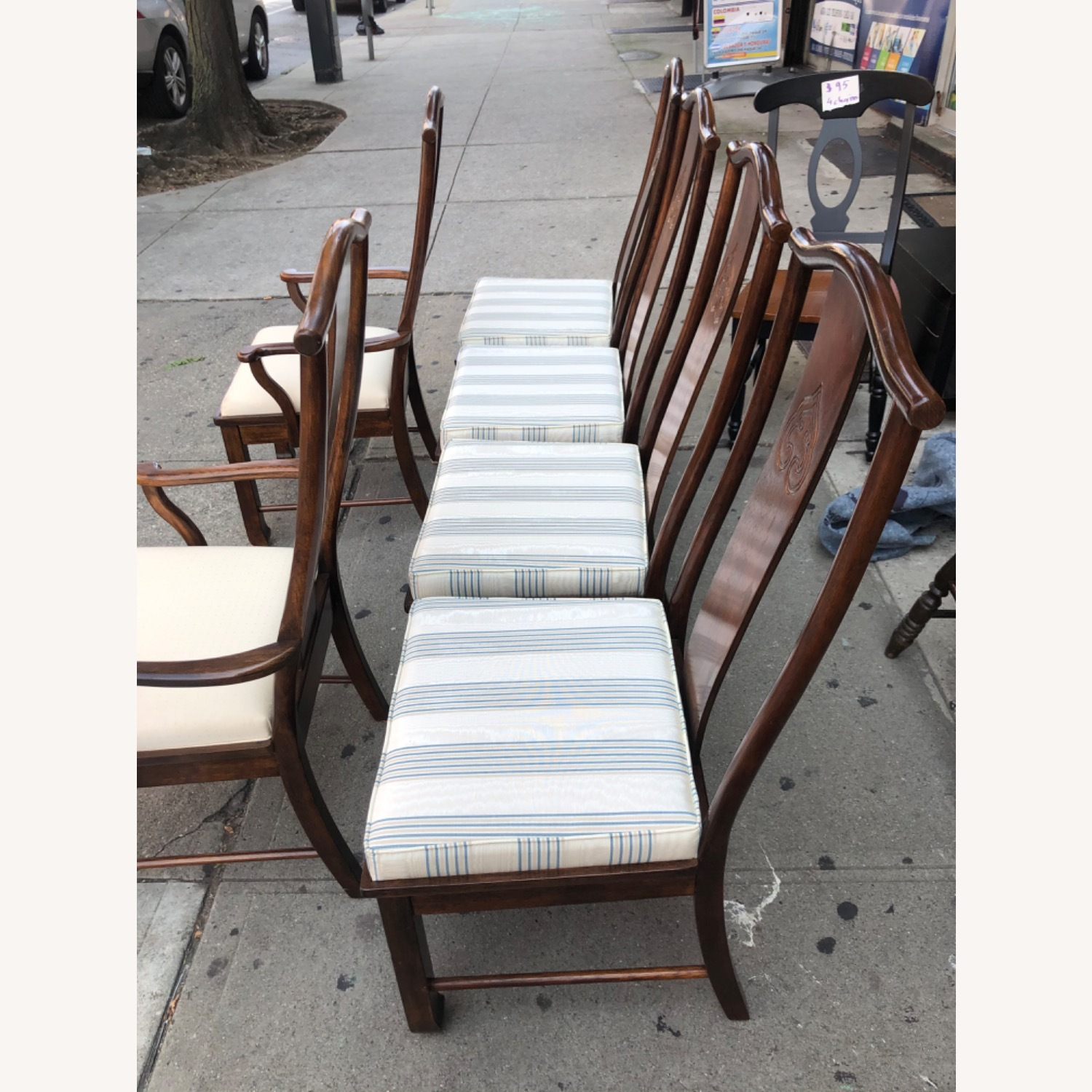 Vintage 1970s Table w/6 Chairs & 2 Extension - image-16