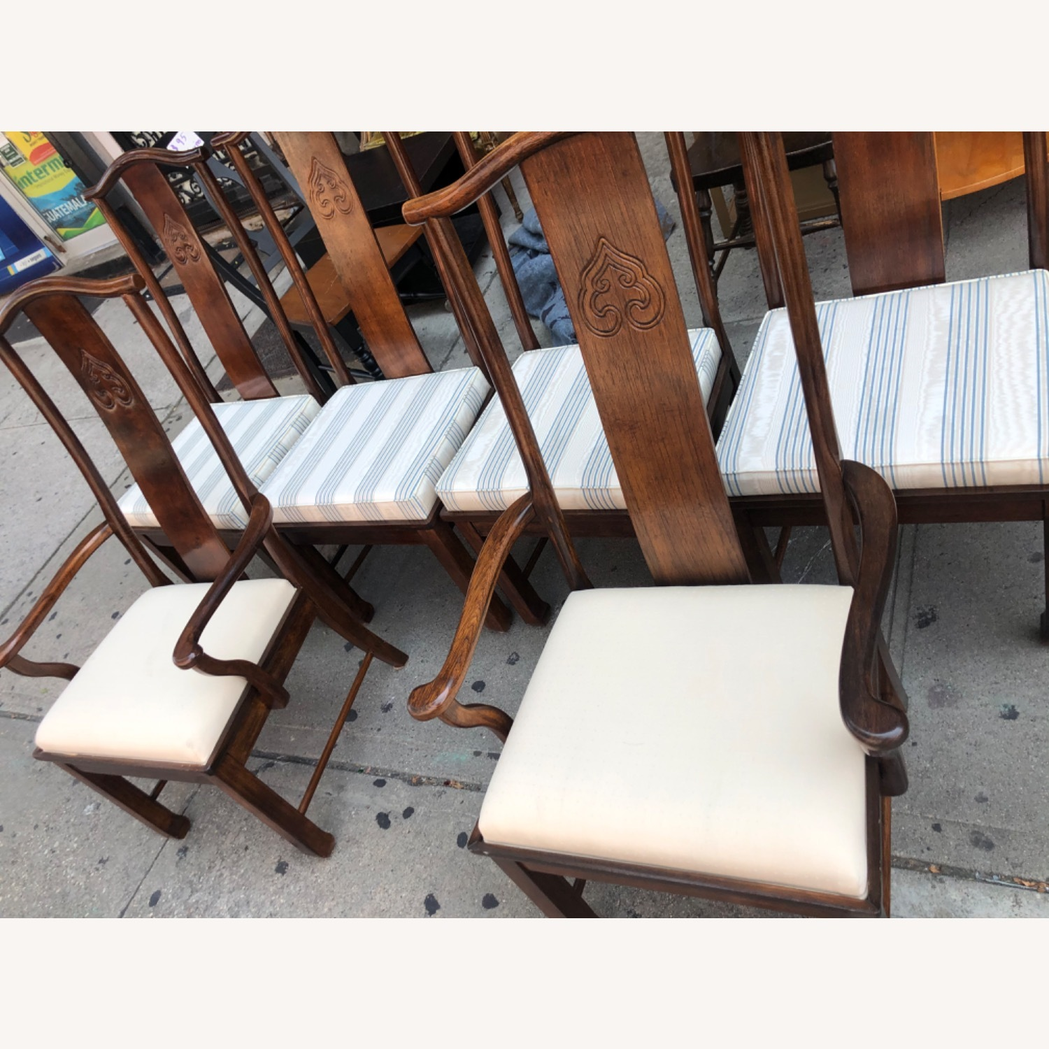 Vintage 1970s Table w/6 Chairs & 2 Extension - image-15