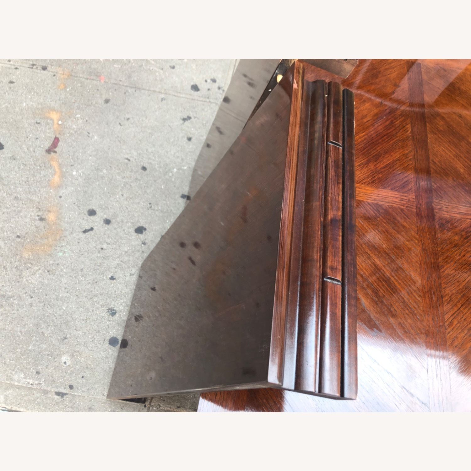 Vintage 1970s Table w/6 Chairs & 2 Extension - image-11