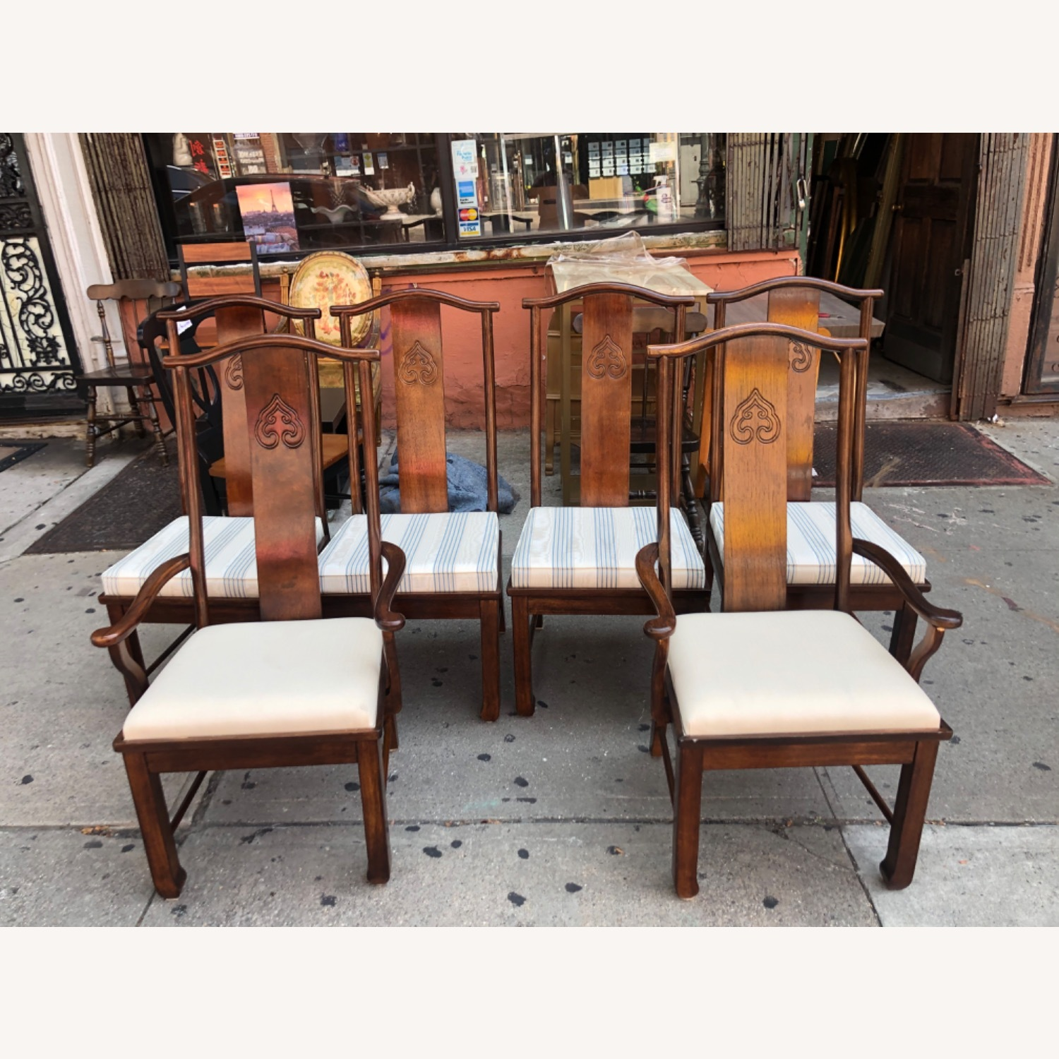 Vintage 1970s Table w/6 Chairs & 2 Extension - image-14