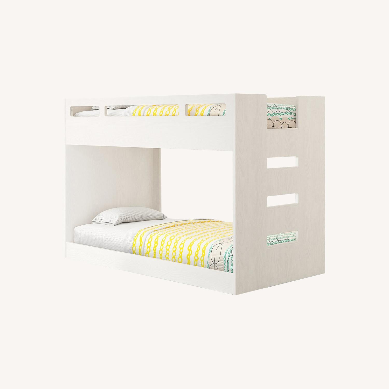 Crate & Barrel Kids Bunk Bed White - image-0