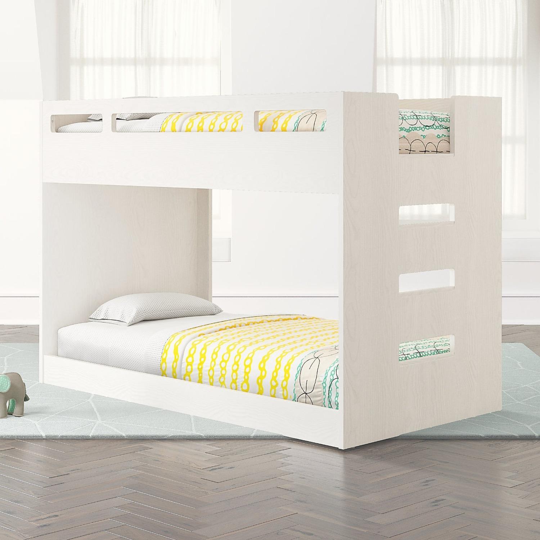 Crate & Barrel Kids Bunk Bed White - image-1