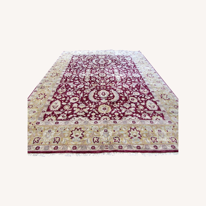 Handmade vintage Afghan Zigler rug - image-0