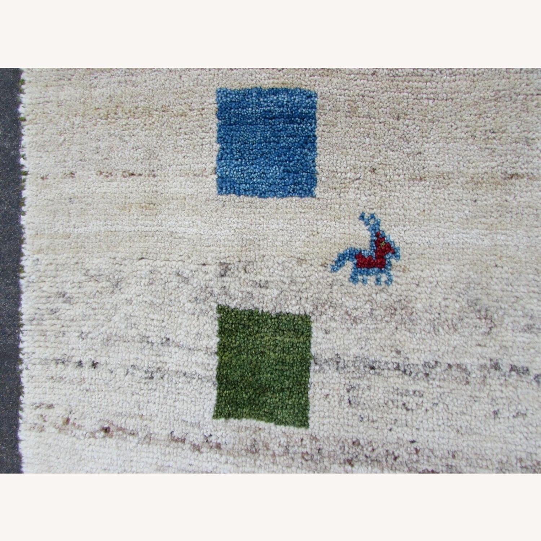 Handmade vintage Persian Gabbeh rug - image-5