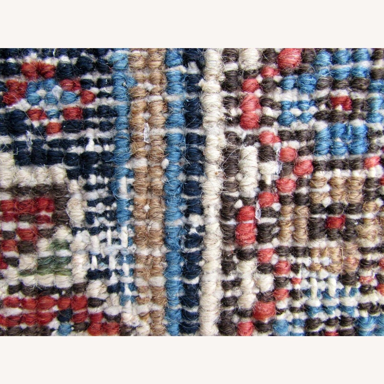 Handmade antique Persian Heriz distressed rug - image-2
