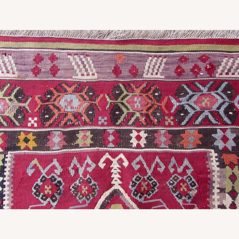 Handmade antique prayer Turkish Melas kilim - image-7