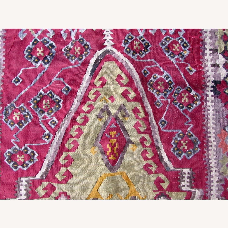 Handmade antique prayer Turkish Melas kilim - image-8