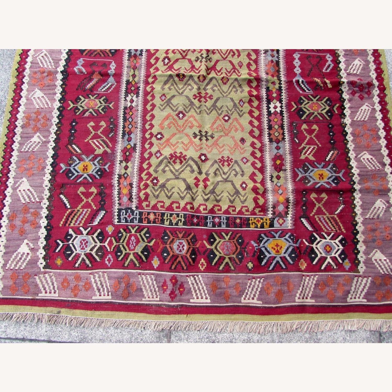 Handmade antique prayer Turkish Melas kilim - image-6
