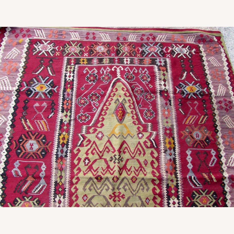 Handmade antique prayer Turkish Melas kilim - image-5