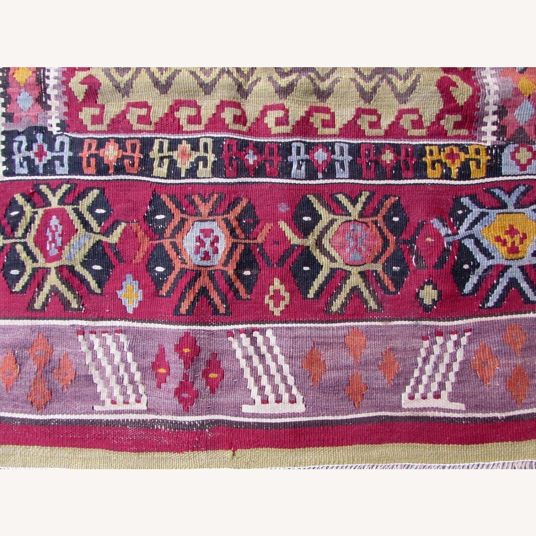 Handmade antique prayer Turkish Melas kilim - image-2