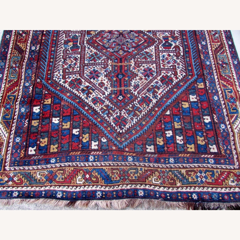 Handmade antique Persian Gashkai rug - image-7