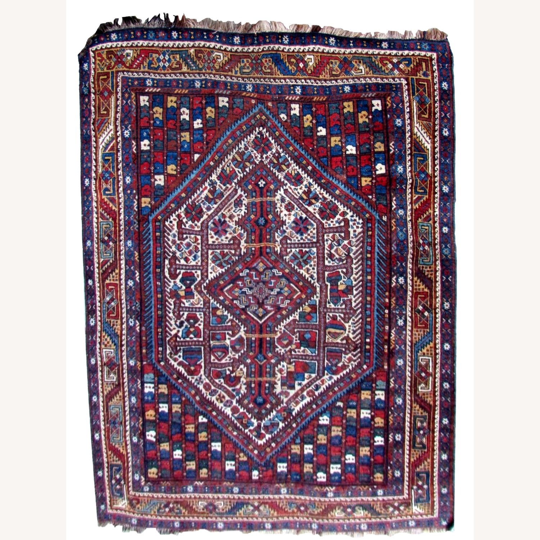 Handmade antique Persian Gashkai rug - image-1