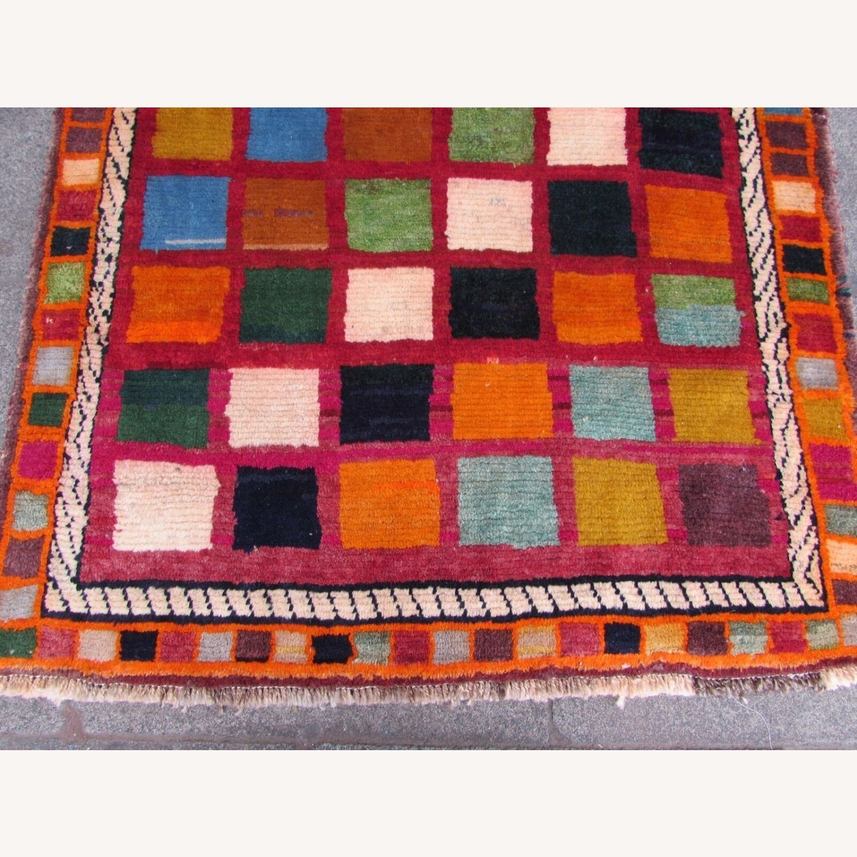 Handmade Vintage Persian Gabbeh Rug - image-11