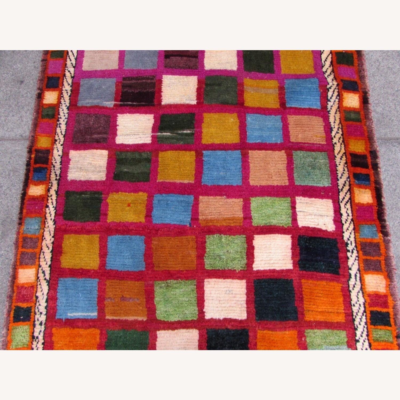 Handmade Vintage Persian Gabbeh Rug - image-8