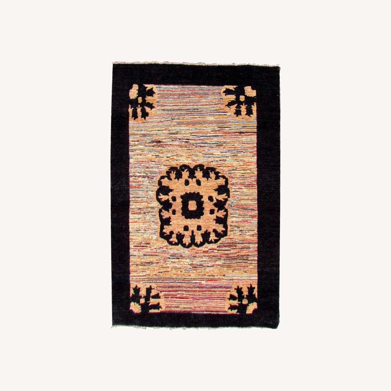 Handmade Vintage Persian Gabbeh Rug - image-0