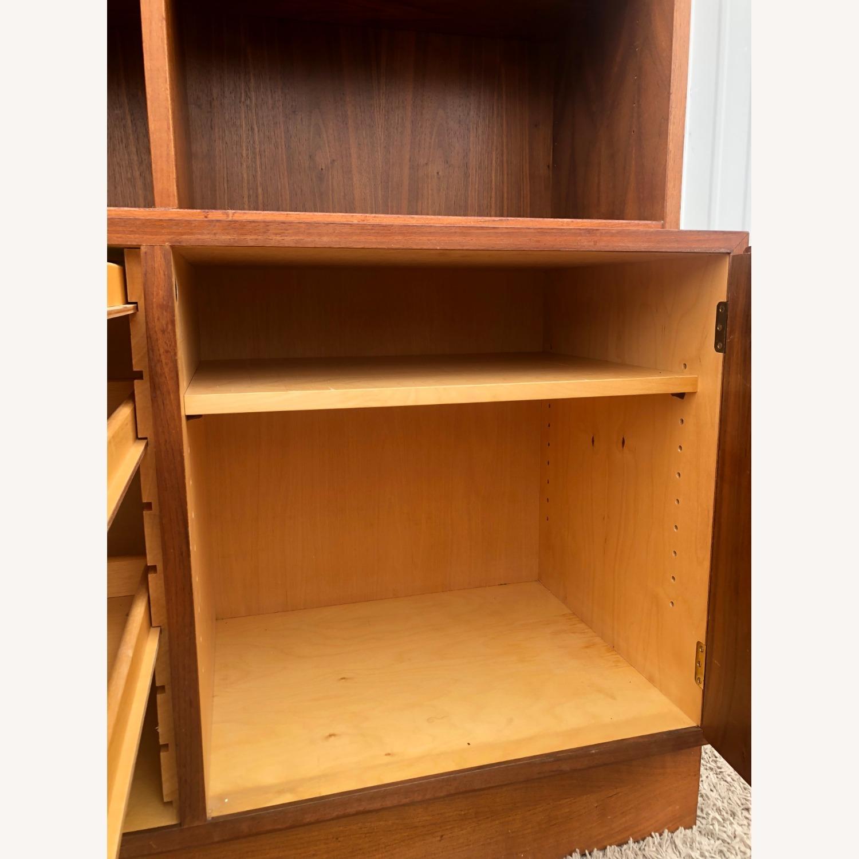 Danish Modern Shelving Unit with Locking Cabinet - image-17