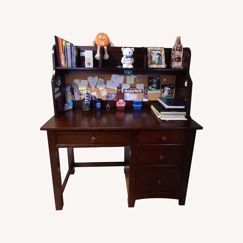 Dark Brown Desk - image-0