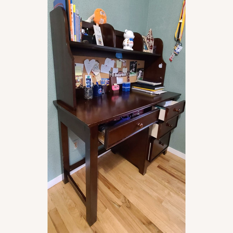 Dark Brown Desk - image-1