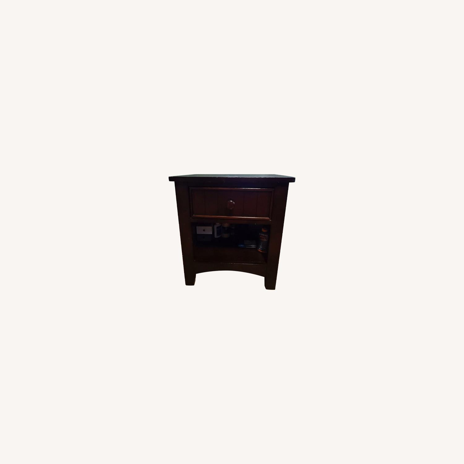 Dark Brown Night Table - image-0