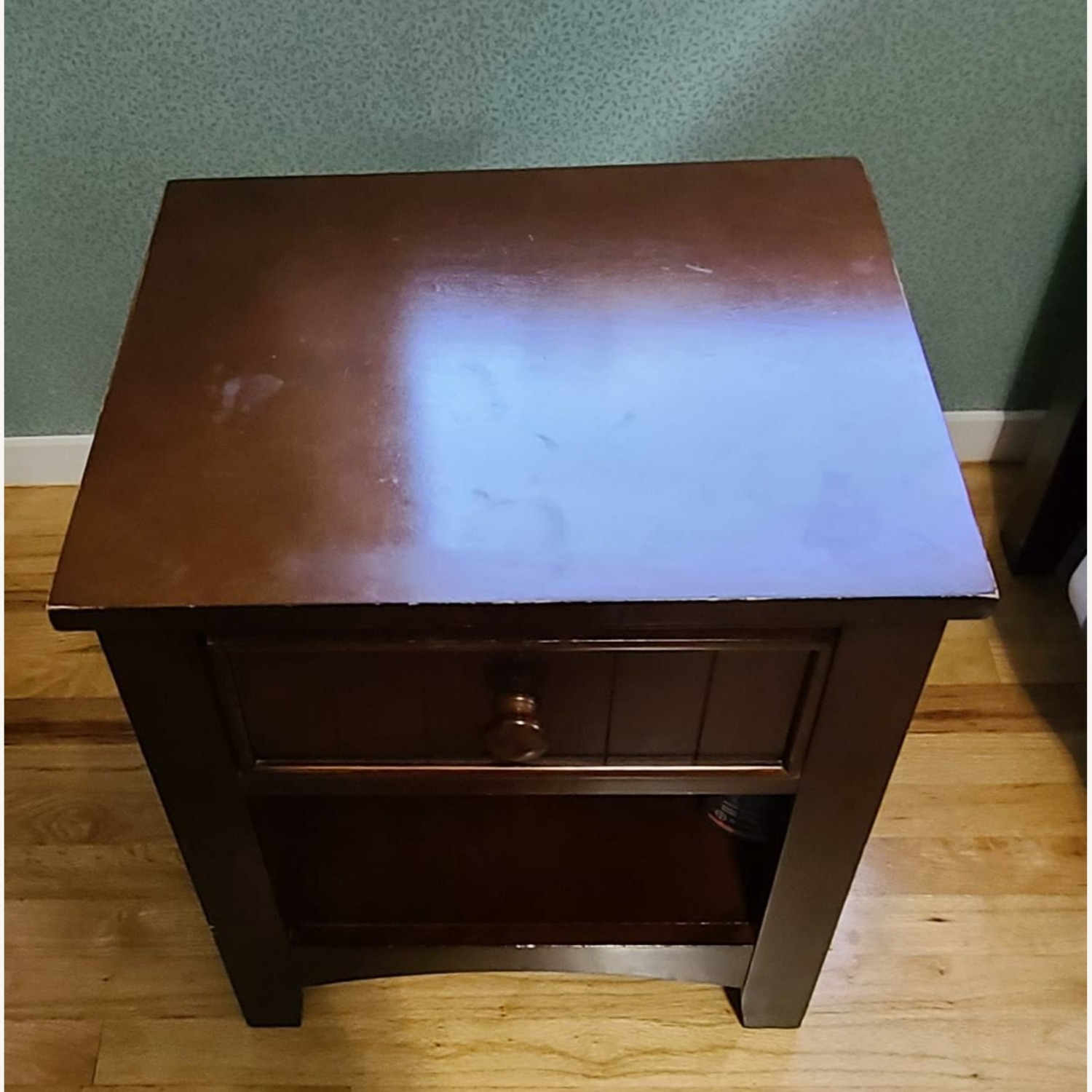 Dark Brown Night Table - image-2
