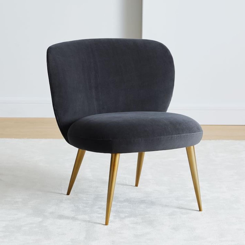 West Elm Ginger Slipper Chair - image-1