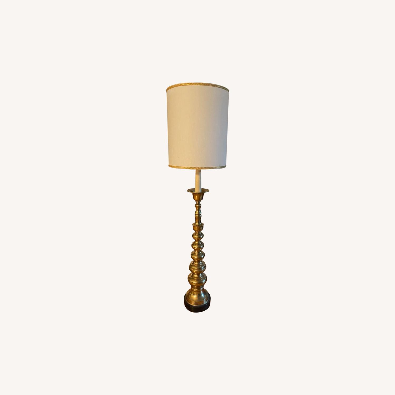 Mid-Century Brass Floor Lamp - image-0