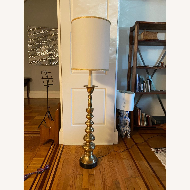 Mid-Century Brass Floor Lamp - image-1