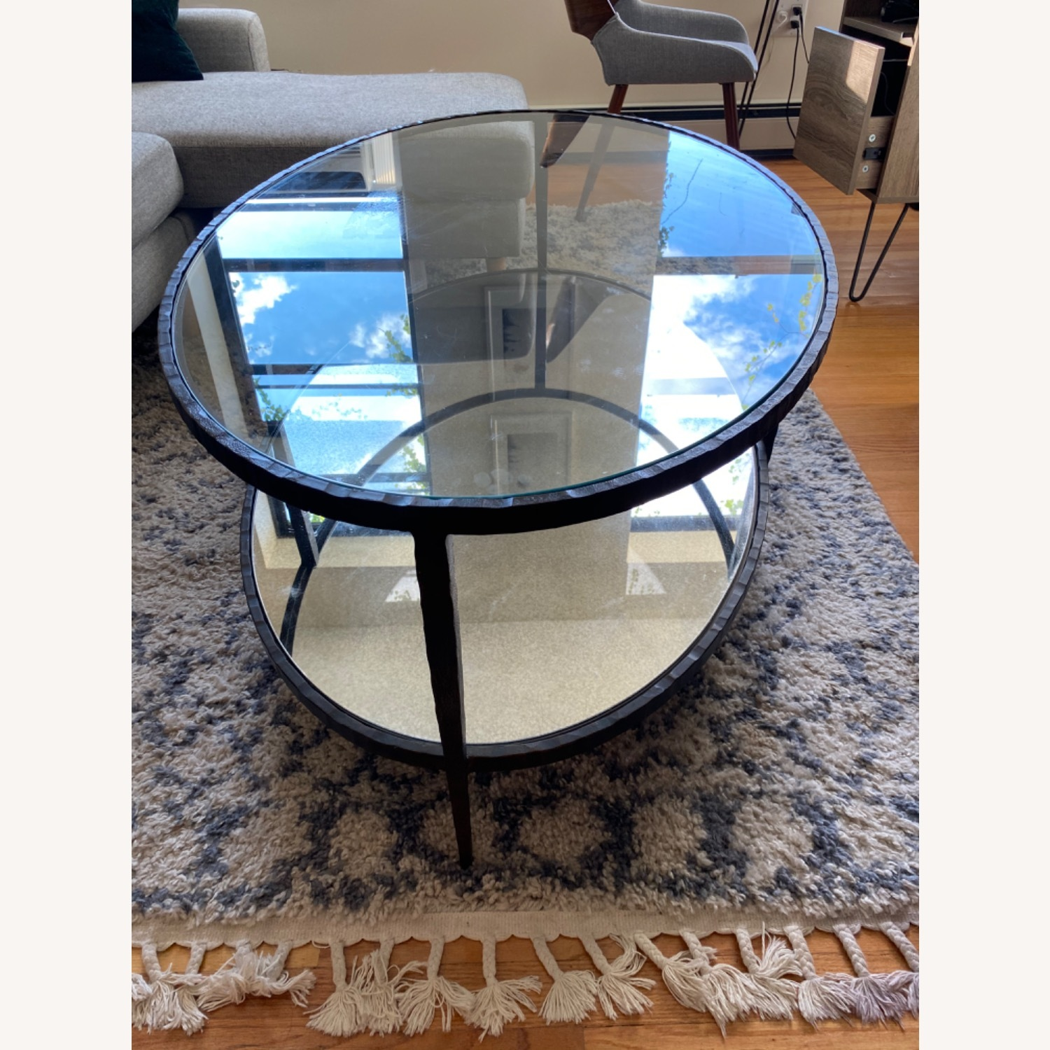 Crate & Barrel Clairemont Oval Coffee Table - image-1
