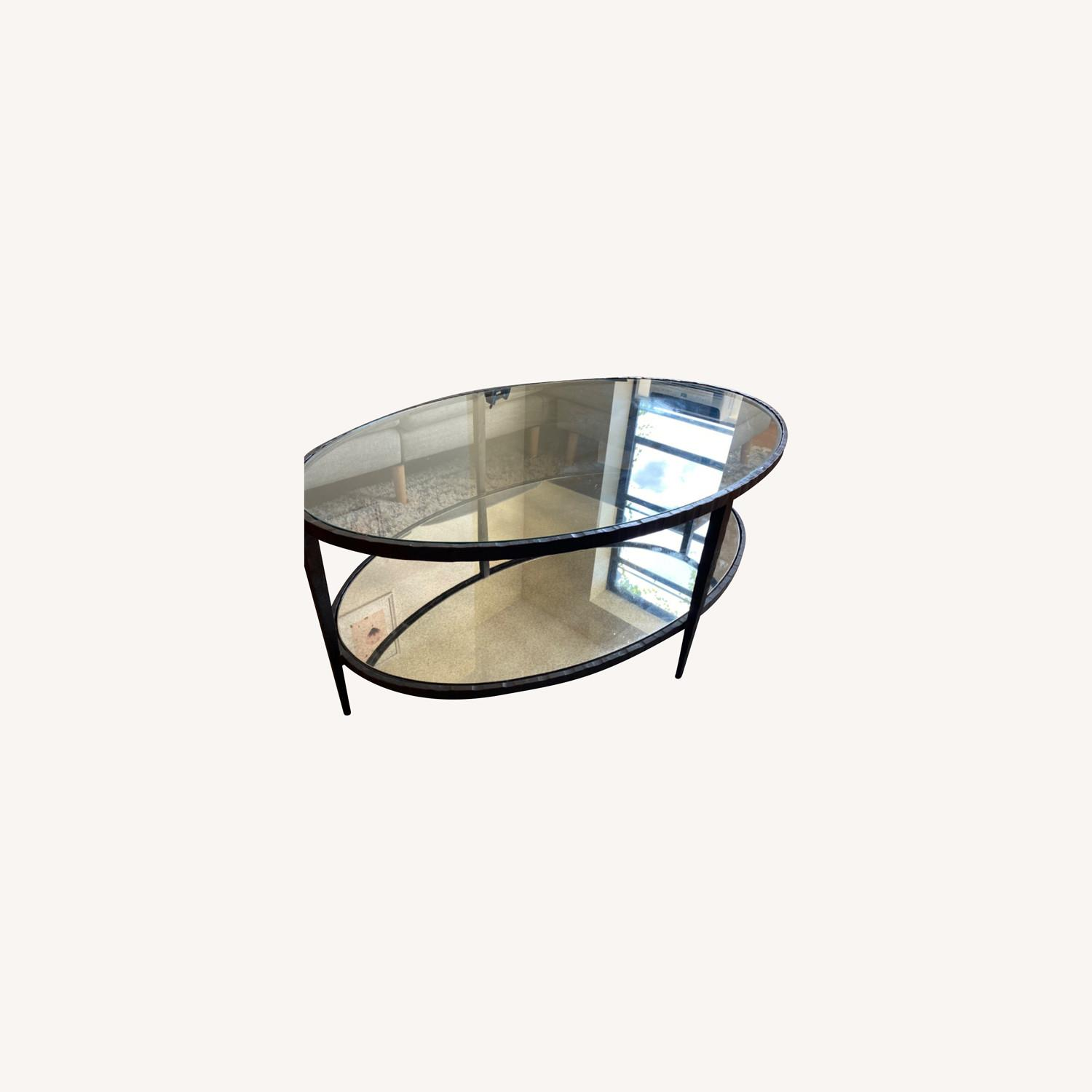 Crate & Barrel Clairemont Oval Coffee Table - image-0