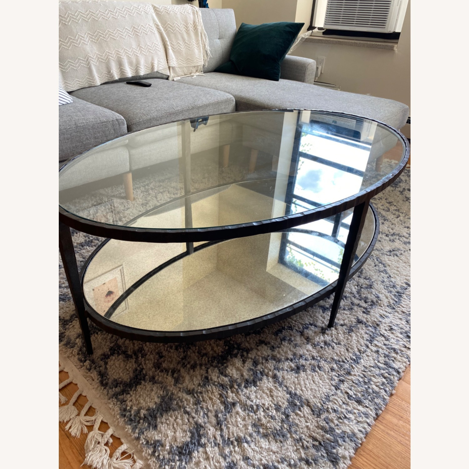 Crate & Barrel Clairemont Oval Coffee Table - image-2